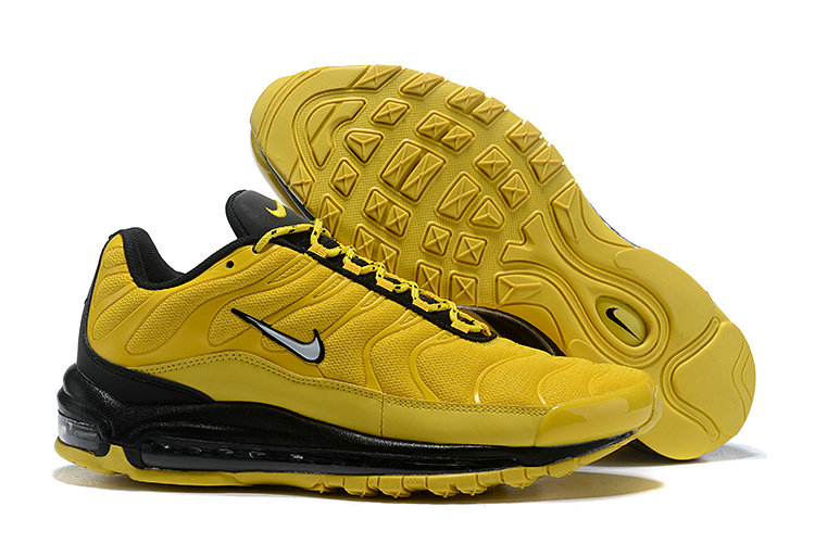 Wholesale Cheap Nike Air Max 97 Plus TN Mens Black Yellow-www.wholesaleflyknit.com
