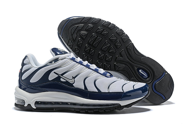 best website fd947 c4667 Wholesale Cheap Nike Air Max 97 Plus TN Mens Navy Blue White Black-www.