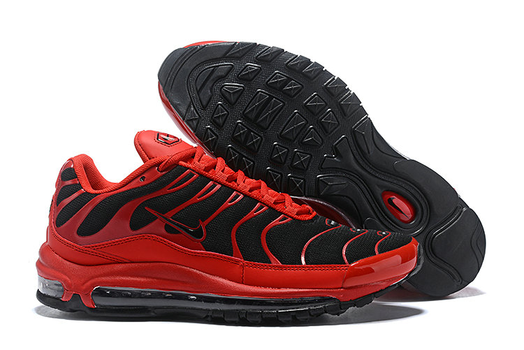 Wholesale Cheap Nike Air Max 97 Plus TN Mens Red Black-www.wholesaleflyknit.com