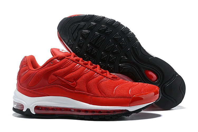 Wholesale Cheap Nike Air Max 97 Plus TN Mens Red White Black-www.wholesaleflyknit.com