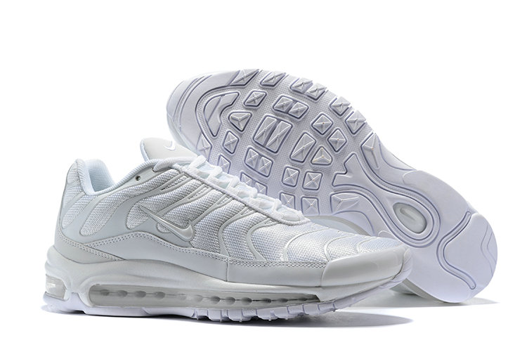 Wholesale Cheap Nike Air Max 97 Plus TN Womens All White-www.wholesaleflyknit.com