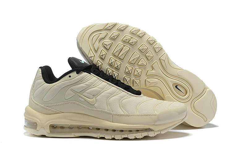 Wholesale Cheap Nike Air Max 97 Plus TN Womens Cream Black-www.wholesaleflyknit.com