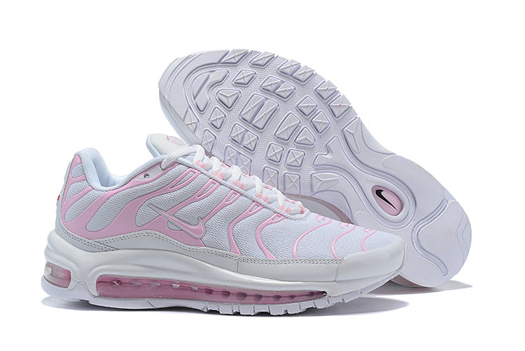 Wholesale Cheap Nike Air Max 97 Plus TN Womens White Pink-www.wholesaleflyknit.com