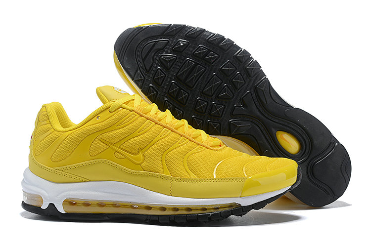 Wholesale Cheap Nike Air Max 97 Plus TN Womens Yellow White Black-www.wholesaleflyknit.com