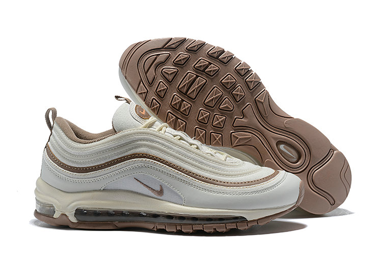 Cheap Wholesale Nike Air Max 97 Running Shoes White Deep Gold- www.wholesaleflyknit.com