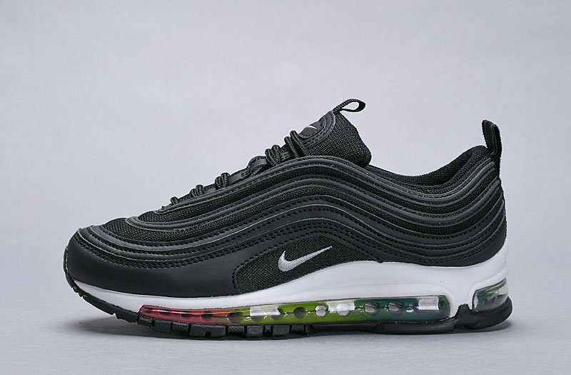 Wholesale Cheap Nike Air Max 97 Womens Triple Black Colorful White Be True-www.wholesaleflyknit.com