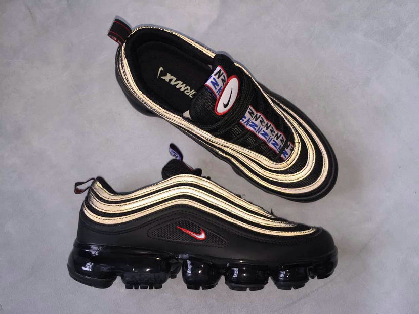 dbe946ad9c Wholesale Cheap Nike Air Max 97 x VaporMax Gold Black Red For Sale - www.