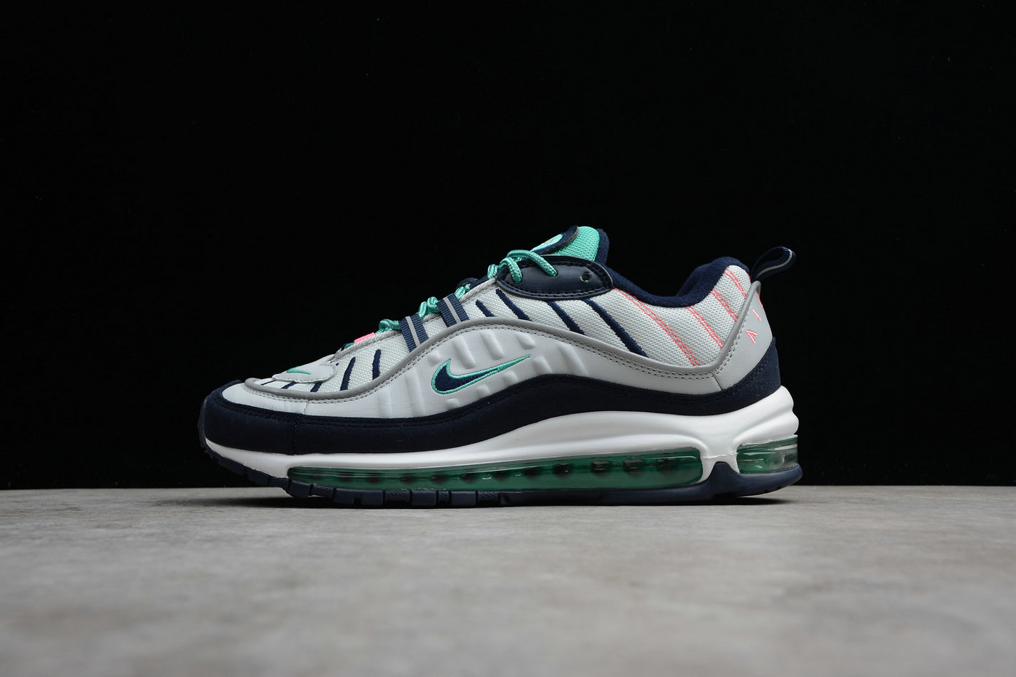 promo code 20f8e df177 Cheap Wholesale Nike Air Max 98 640744-005 Pure Platinum Obsidian Platine  Pur Obsidienne-