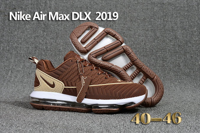 Wholesale Cheap Nike Air Max DLX 2019 Brown Beige White Running - www.wholesaleflyknit.com