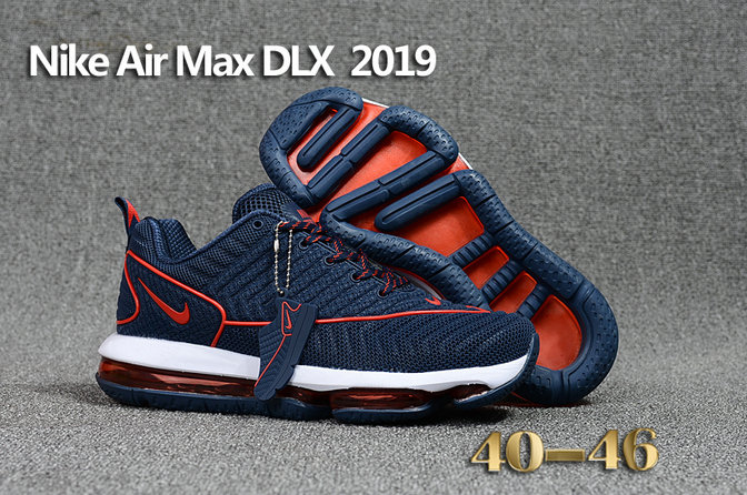 Wholesale Cheap Nike Air Max DLX 2019 Navy Blue Red White Running - www.wholesaleflyknit.com