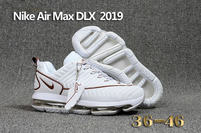 Wholesale Cheap Nike Air Max DLX 2019 White Brown Running - www.wholesaleflyknit.com