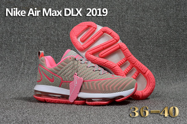 Wholesale Cheap Nike Air Max DLX 2019 Womens Grey Pink White Running - www.wholesaleflyknit.com