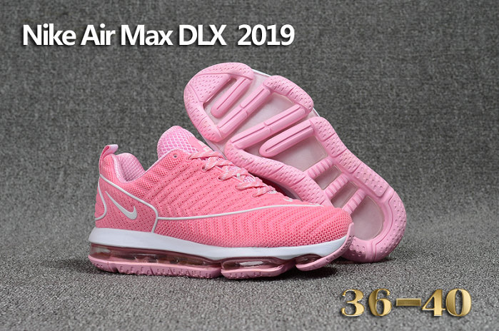 Wholesale Cheap Nike Air Max DLX 2019 Womens Pink White Running - www.wholesaleflyknit.com