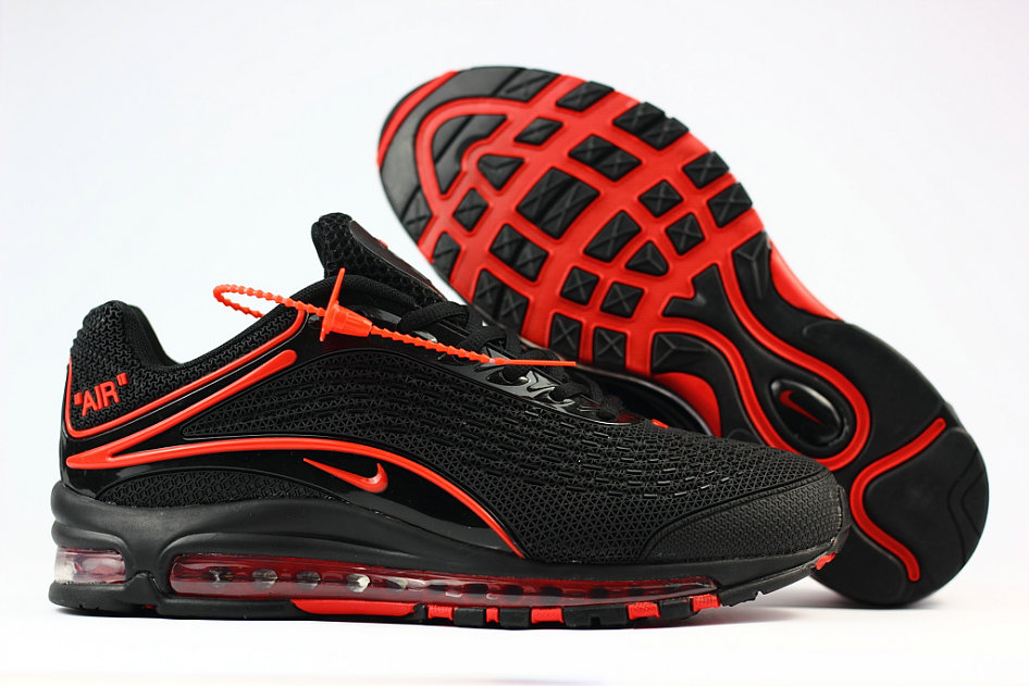 Cheap Wholesale Nike Air Max Deluxe 2019 Fire Red Black Running Shoes- www.wholesaleflyknit.com