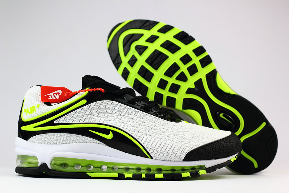 Cheap Wholesale Nike Air Max Deluxe 2019 Fluorescent Green White Black Running Shoes- www.wholesaleflyknit.com