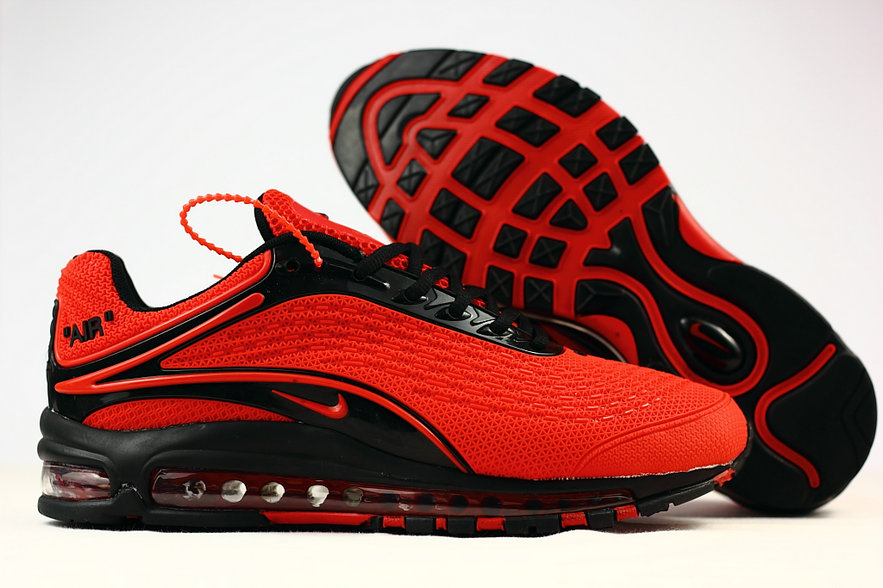 Cheap Wholesale Nike Air Max Deluxe 2019 University Red Black Running Shoes- www.wholesaleflyknit.com
