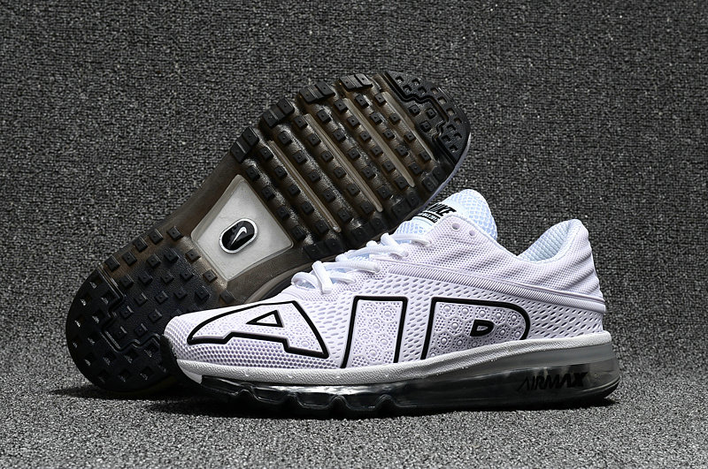 Wholesale Cheap Nike Air Max Flair 2017 Mens Black White Sneakers - www.wholesaleflyknit.com