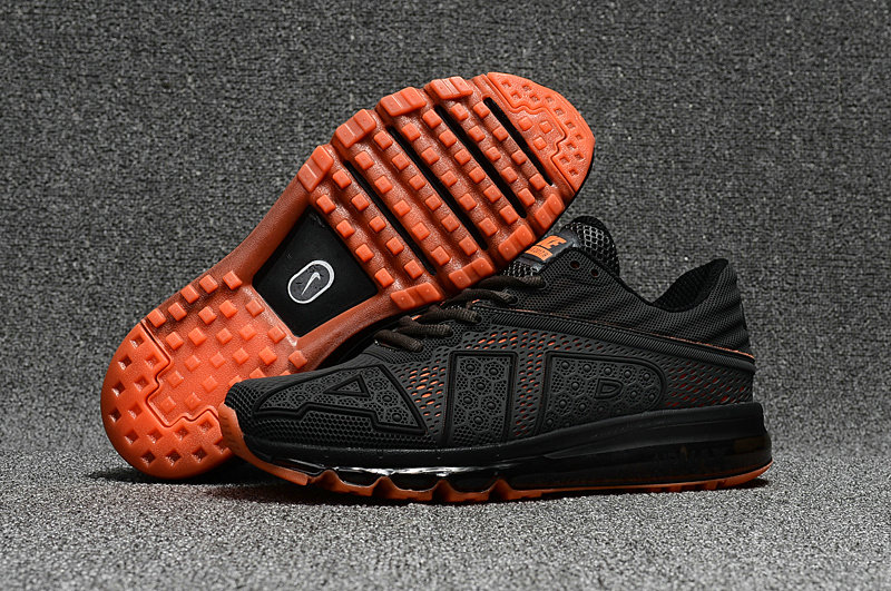 Wholesale Cheap Nike Air Max Flair 2017 Mens Dark Grey Orange Sneakers - www.wholesaleflyknit.com