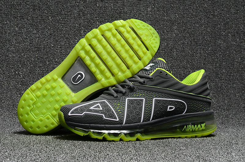 Wholesale Cheap Nike Air Max Flair 2017 Mens Fluorescent Green Grey Sneakers - www.wholesaleflyknit.com