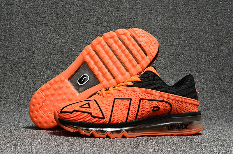 Wholesale Cheap Nike Air Max Flair 2017 Mens Orange Black Sneakers - www.wholesaleflyknit.com