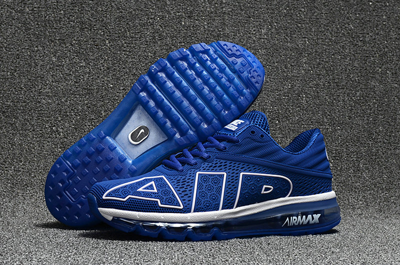 Wholesale Cheap Nike Air Max Flair 2017 Mens Royal Blue White Black Sneakers - www.wholesaleflyknit.com