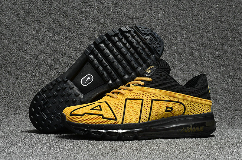 Wholesale Cheap Nike Air Max Flair 2017 Mens Yellow Black Sneakers - www.wholesaleflyknit.com