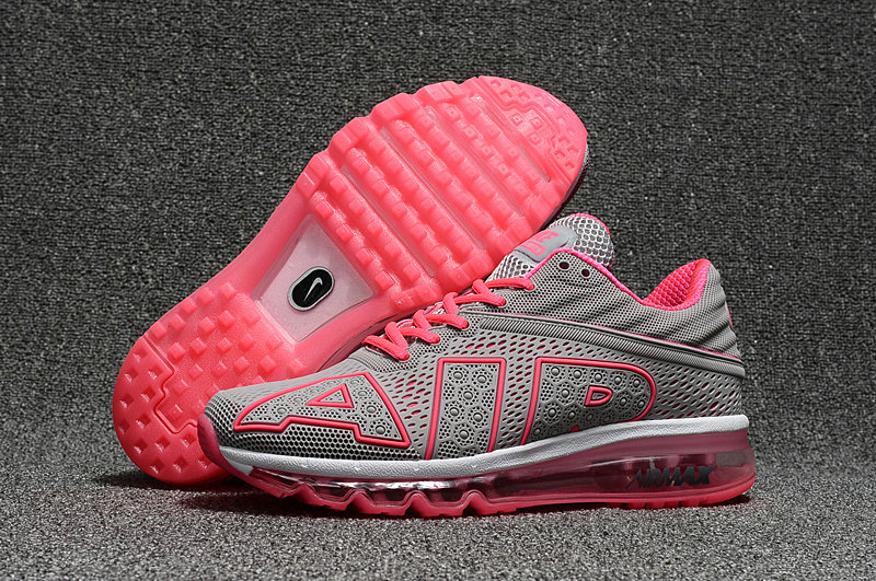 Wholesale Cheap Nike Air Max Flair 2017 Womens Grey Pink Black Sporting - www.wholesaleflyknit.com