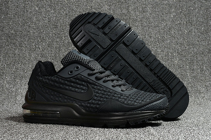Cheap Wholesale Nike Air Max LTD Triple Black Running Shoes- www.wholesaleflyknit.com