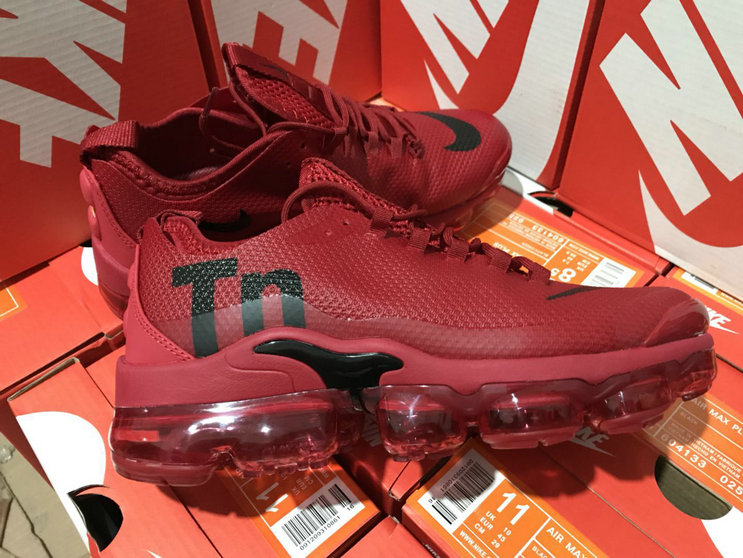 Cheap Wholesale Nike Air Max TN Plus VaporMax Wine Red Black- www.wholesaleflyknit.com