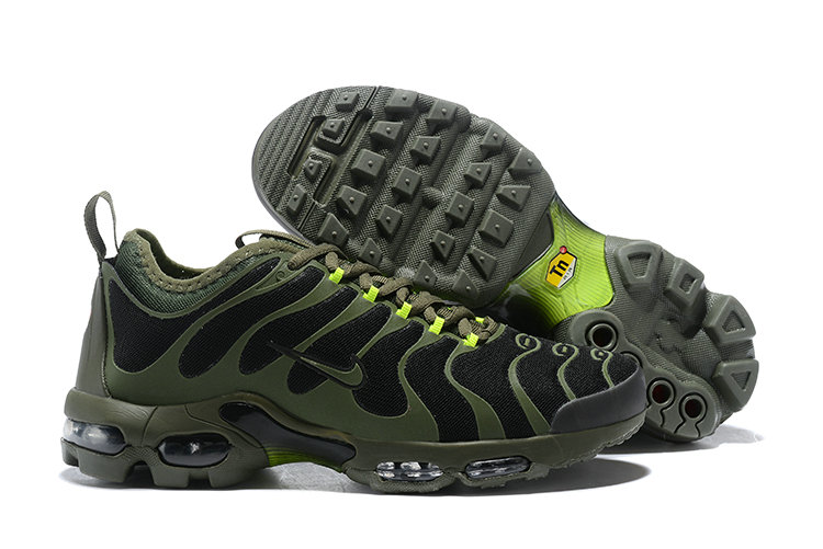 Cheap Wholesale Nike Air Max TN Running Shoes Army Green Black- www.wholesaleflyknit.com
