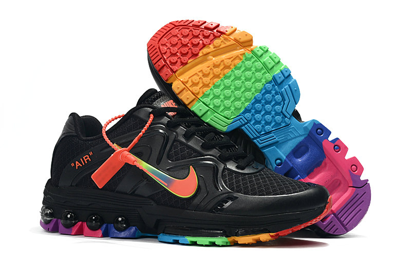 Wholesale Cheap Nike Air Maxs 2019 Womens Black Rainbow Be True-www.wholesaleflyknit.com