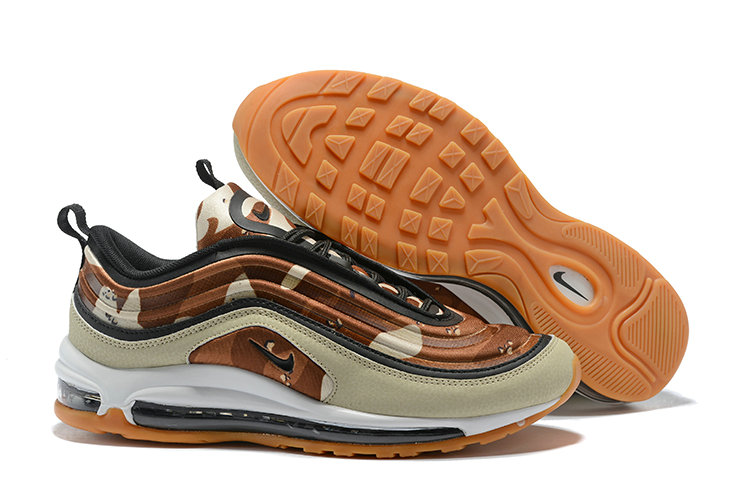 Cheap Wholesale Nike Air Maxs 97 Floral Prints Brown White Beige On www.wholesaleoffwhite.com