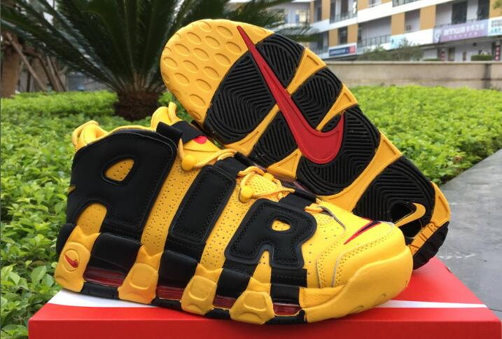 Wholesale Cheap Nike Air More Uptempo Bruce Lee Yellow Black For Sale - www.wholesaleflyknit.com