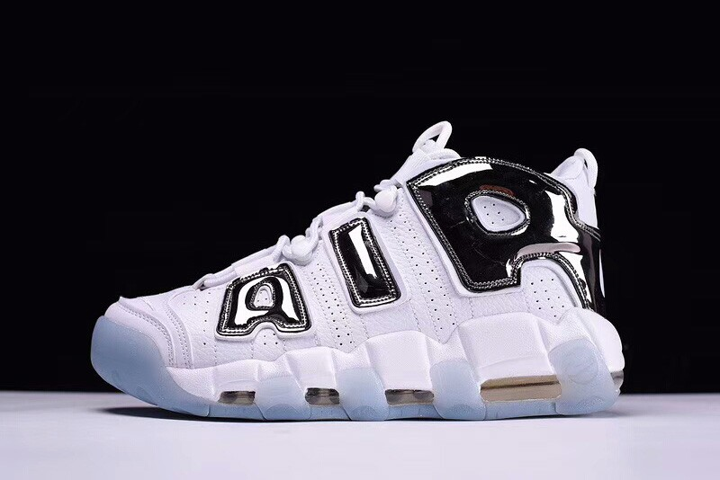 Wholesale Cheap Nike Air More Uptempo Chrome White Chrome-Blue Tint For Sale - www.wholesaleflyknit.com