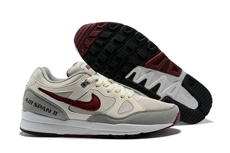 Cheapest Wholesale Nike Air Span II Black Grey Deep Red - www.wholesaleflyknit.com