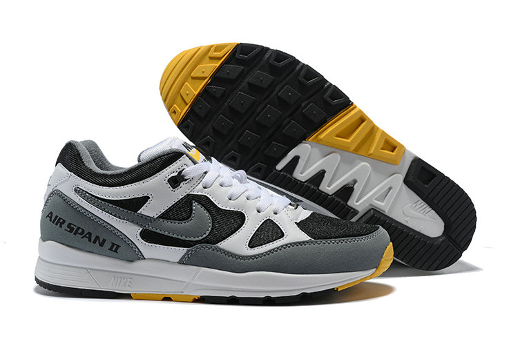 Cheapest Wholesale Nike Air Span II Black Grey Yellow - www.wholesaleflyknit.com