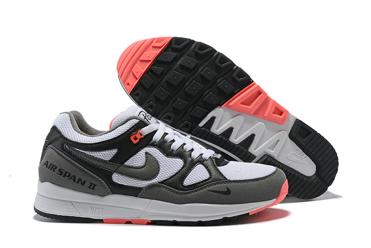 Cheapest Wholesale Nike Air Span II Black White Pink - www.wholesaleflyknit.com
