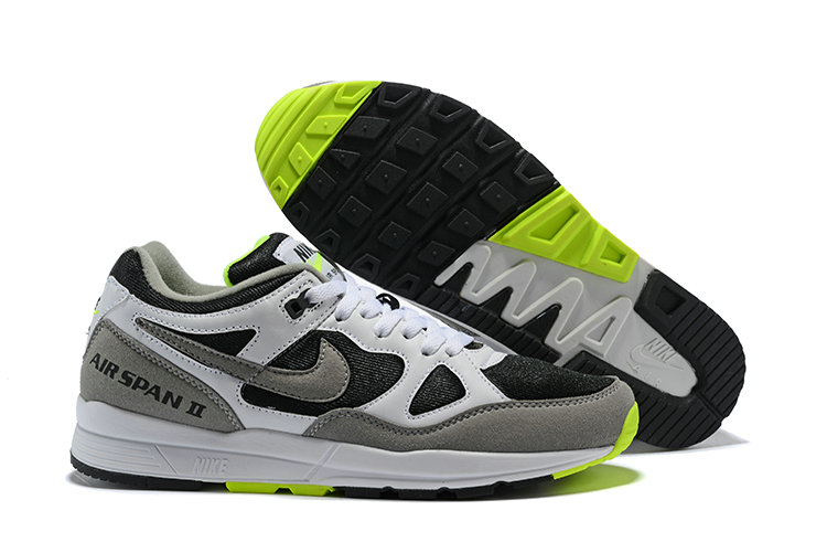 Cheapest Wholesale Nike Air Span II Green Black White - www.wholesaleflyknit.com