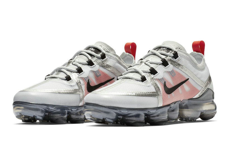 Cheapest Wholesale Nike Air VaporMax 2019 Premium Silver White Red Black - www.wholesaleflyknit.com