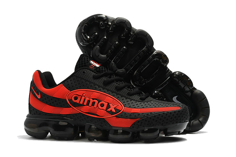 Cheap Wholesale Nike Air VaporMax 95 Fire Red Black On www.wholesaleoffwhite.com