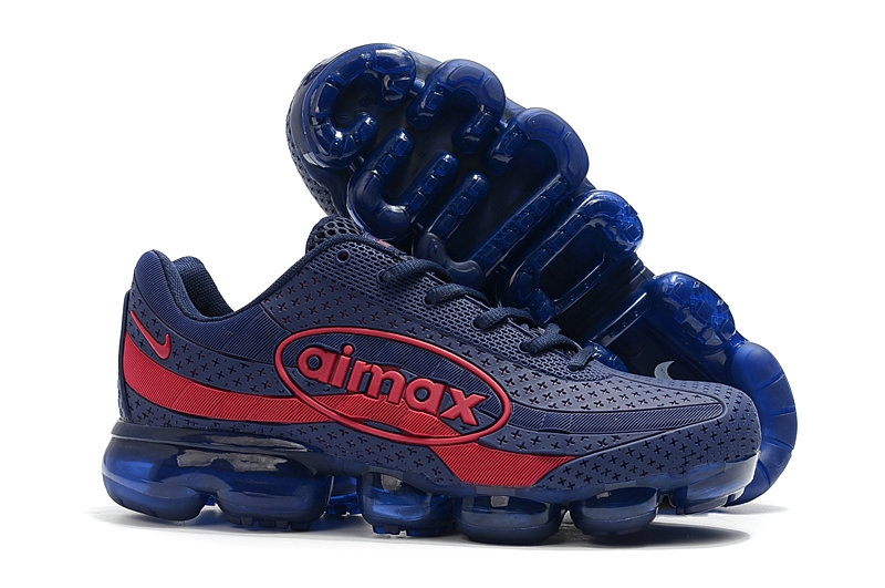 Cheap Wholesale Nike Air VaporMax 95 Navy Blue Red On www.wholesaleoffwhite.com