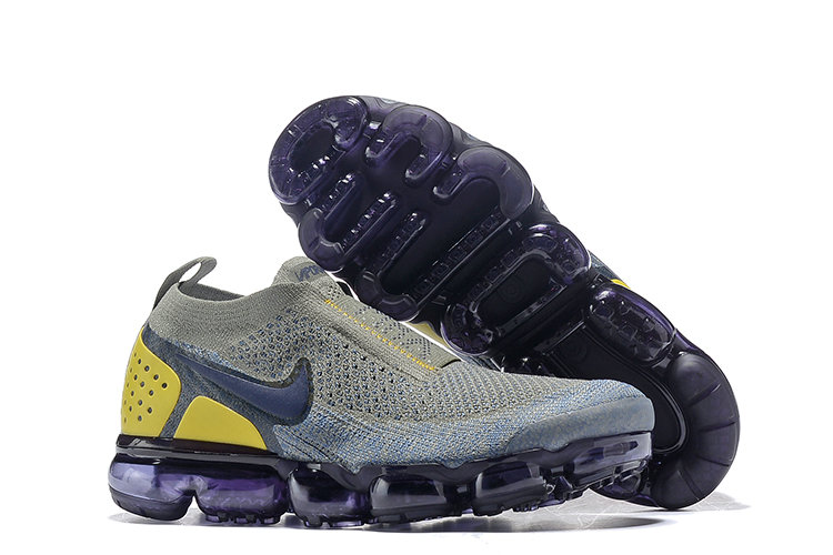 Cheap Wholesale Nike Air VaporMax Flyknit 2.0  Shoes Yellow Grey Black- www.wholesaleflyknit.com
