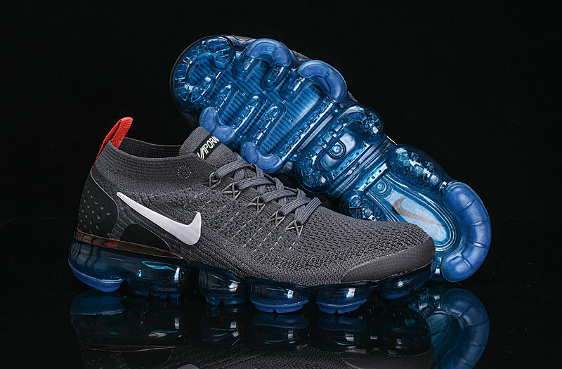 Cheap Wholesale Nike Air VaporMax Flyknit 2.0 Shoes Deep Grey Black Blue- www.wholesaleflyknit.com