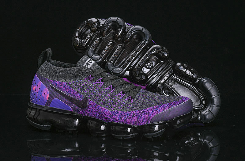 Cheap Wholesale Nike Air VaporMax Flyknit 2.0 Shoes Purple Black- www.wholesaleflyknit.com