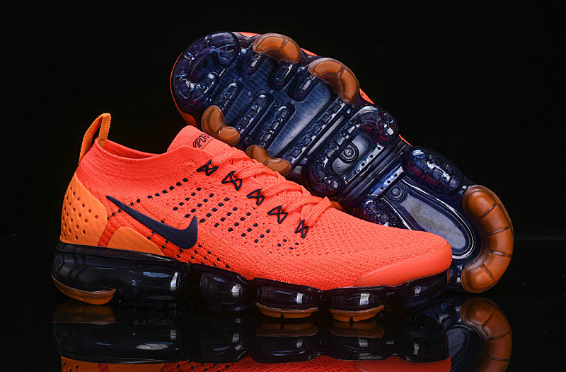 Cheap Wholesale Nike Air VaporMax Flyknit 2.0 Womens Shoes Navy Blue Orange- www.wholesaleflyknit.com