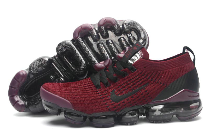 Cheapest Wholesale Nike Air VaporMax Flyknit 3.0 Deep Red Black Purple - www.wholesaleflyknit.com