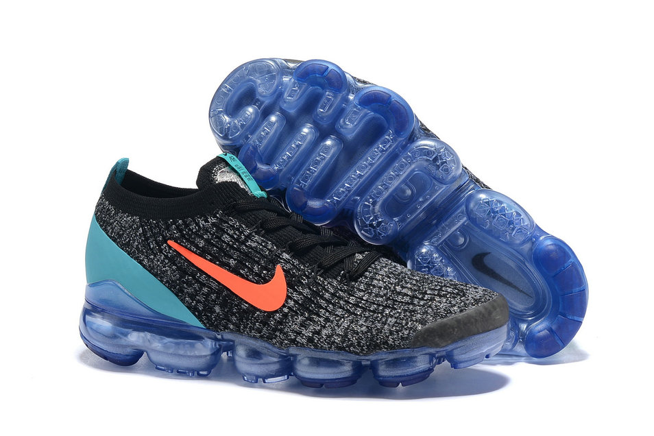 Cheapest Wholesale Nike Air VaporMax Flyknit 3.0 Orange Jade Black Grey - www.wholesaleflyknit.com