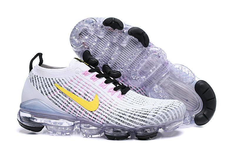 Cheapest Wholesale Nike Air VaporMax Flyknit 3.0 White Dynamic Yellow Hyper Turquoise AJ6900-103 - www.wholesaleflyknit.com