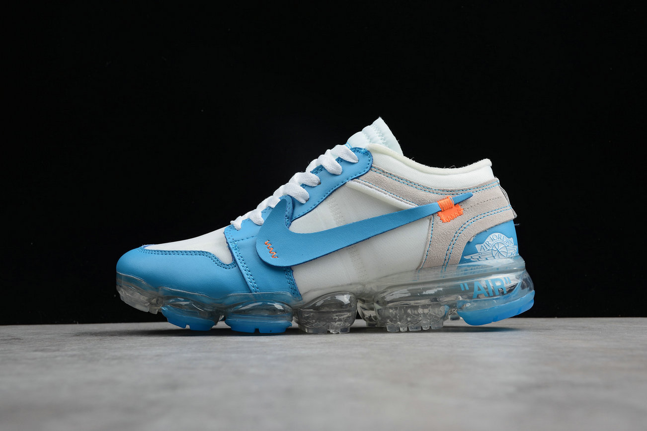Cheap Wholesale Nike Air VaporMax Jordan 1 White Sky Blue Blanc- www.wholesaleflyknit.com