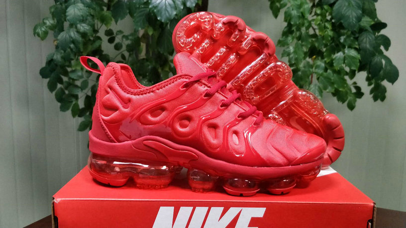 Cheap Wholesale Nike Air VaporMax Plus Triple Red Fashion Sneakers - www.wholesaleflyknit.com